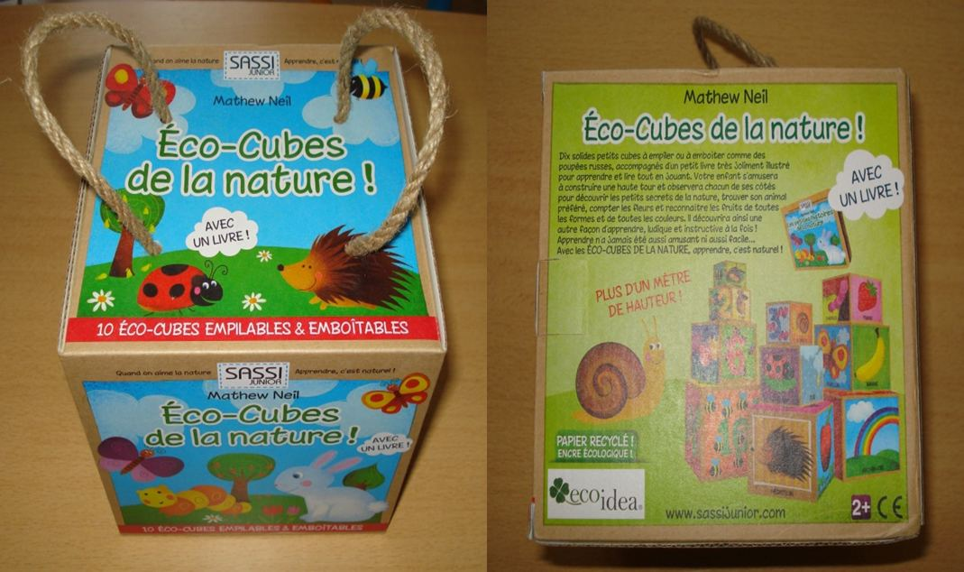 emballage eco cube nature