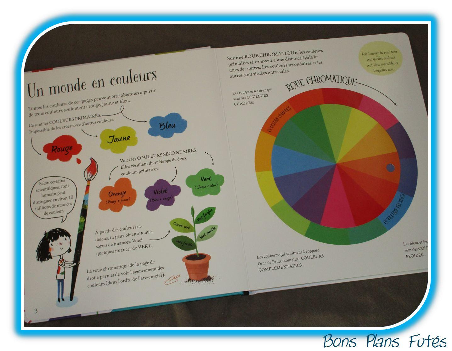 Le grand livre des couleurs usborne test livre bons - Roue chromatique des couleurs ...